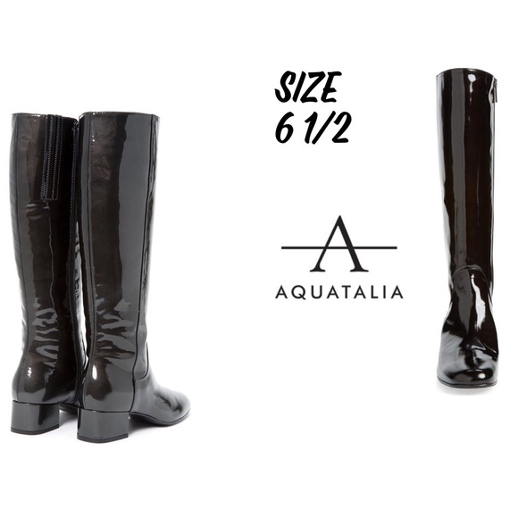 5980d12f980 aquatalia Shoes | Larkin Waterproof Patent Leather Boots | Poshmark